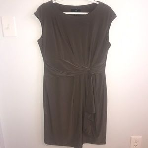 Gorgeous taupe sheath dress. Size 12.